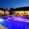 Poolside at Dusk at this Luxury Bali Villa located on Nusa Lembongan