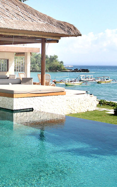 Villa Pantai looking over the Nusa Lembongan beach