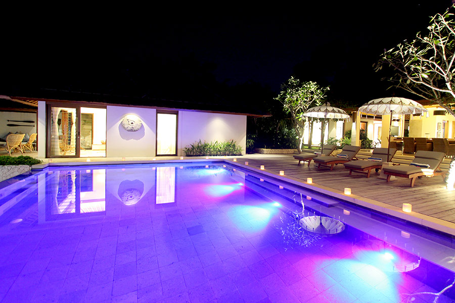 home swimming pools at night. The In-pool LED Lighting Makes Pool Look Amazing At Night Home Swimming Pools