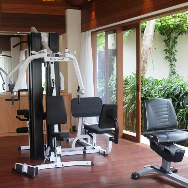 Fully-equipped gym to keep you fit while you relax at our Beachside Resort on Nusa Lembongan