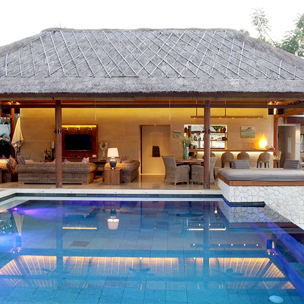 The Living Pavilion is next to the stunning infinity pool