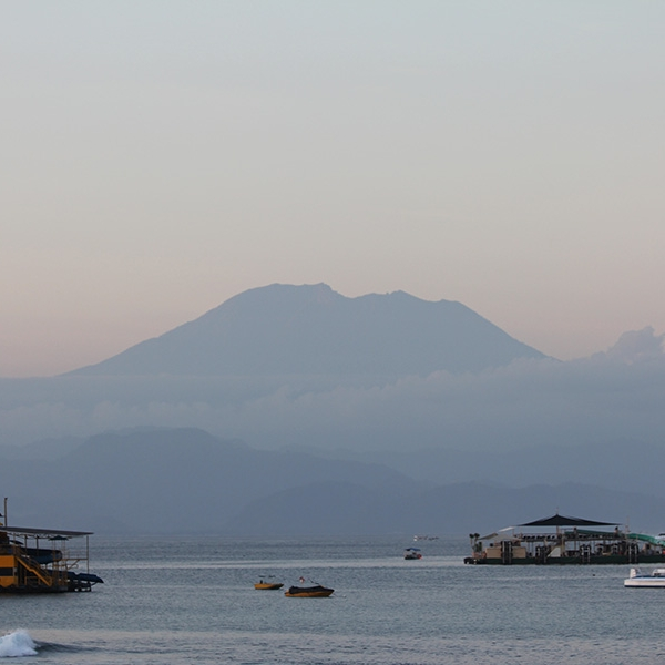 Nusa Lembongan offers some amazing views of Bali's Mount Agung