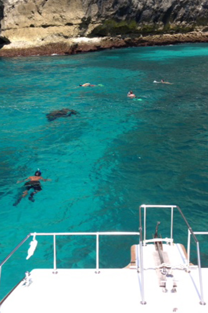 Snorkel off the Bali coast with our exclusive boat charter