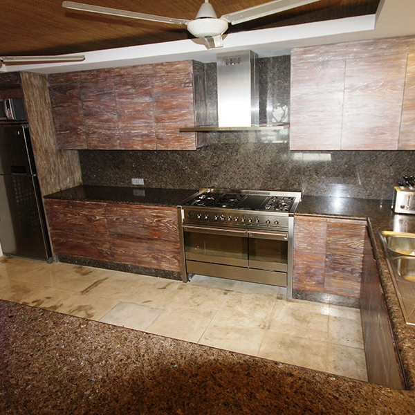 Kitchen where our private chef prepares your meals