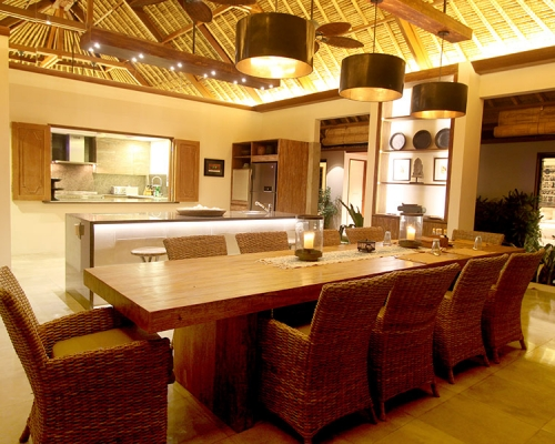 Kitchen and Dining area with your own private chef