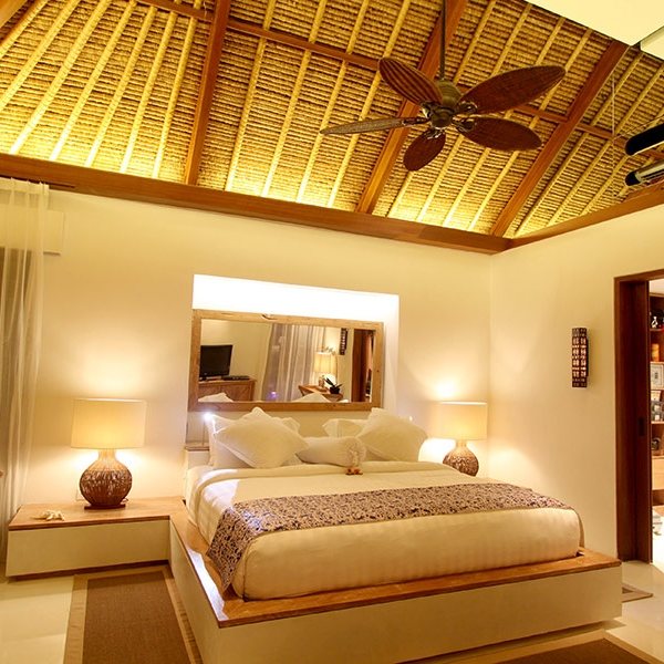 Spacious bedroom suite with a king-size bed
